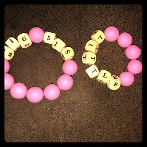 Kids big sis little sis bracelets